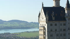 Neuschwanstein Castle - from north to south view Stock Footage