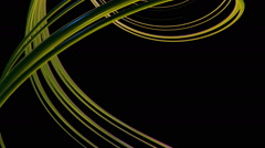 Greenish curved lines Stock Footage
