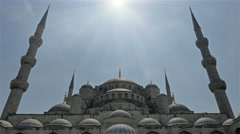 Sultan ahmed blue mosque istanbul daylight Stock Footage