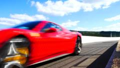 Ferrari 458 Italia at Spa Stock Footage