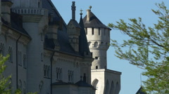 Beautiful architecture of Neuschwanstein Castle's walls Stock Footage