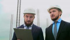 Twins in Civil Engineering Stock Footage