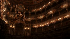 Margravial Opera House Bayreuth - interior Baroque ceiling tilt up and down - stock footage