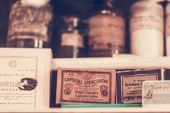 vintage medications - stock photo