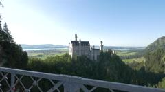 Neuschwanstein Castle seen from Marie's Bridge Stock Footage