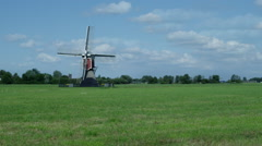Timelapse Dutch windmill - stock footage