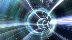Wormhole tunnel - stock illustration