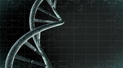 Genetic DNA with science background Stock Illustration