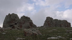 Clouds in the Mountainous Rocks HD Stock Footage