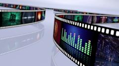 Stock Illustration of Multi colored film reel