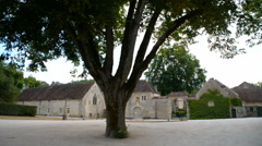 Stock Video Footage of The Abbey of Fontenay is a former Cistercian abbey, commune of Marmagne, France