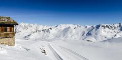 Tignes, alps, France - stock photo
