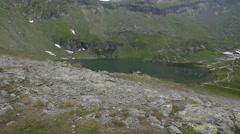 Amazing landscape at Balea Lake, Romania Stock Footage