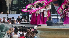 2015 London Korean Festival, Trafalgar Square.. Stock Footage