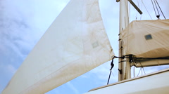 Opening a sails on the ship RG Stock Footage