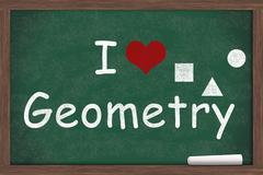 I love Geometry - stock illustration