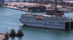 Spanish Ferry Stock Footage