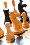 Passion for chess - stock photo