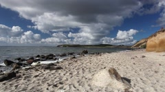 On the dramatic coast of the Baltic Sea Stock Footage