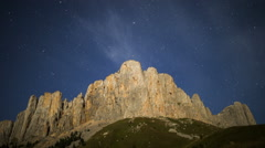 Stars over Mount Big Thach Stock Footage