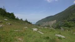 A beautiful landscape near Transfagarasan, Romania Stock Footage