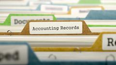 File Folder Labeled as Accounting Records - stock illustration