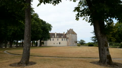 Chateau d'Epoisses in the Burgundy, France , department Cote d'Or. - stock footage