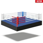 Sample boxing ring - stock illustration