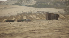 Lonely hut in the savannah. Stock Footage