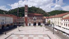 Marostica Castello Aerial View Stock Footage
