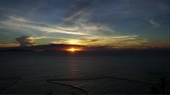 Beautiful twilight light during sunset in Pattaya, Stock Footage