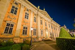 The House of Nobility, Riddarhuset, at night, Galma Stan, Stockholm, Sweden. Stock Photos