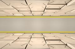 Stacked Boxes Warehouse - stock illustration
