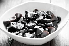 Traditional Finnish Salty liquorice candies Stock Photos