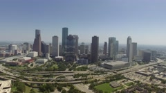 Aerial View of Downtown Houston Skyline - stock footage