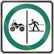 Stock Illustration of Skier And ATV Lane in Canada