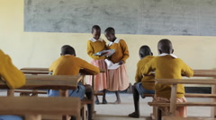 Kenyan Primary School. - stock footage