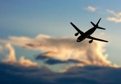 Plane in Sky - stock illustration