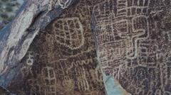 Petroglyphs in the American Southwest - stock footage