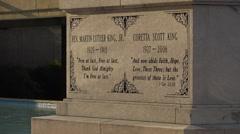The Martin Luther King gravesite in Atlanta, Georgia. - stock footage