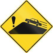 Hazard Behind Blindhead in Canada - stock illustration