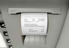 ATM Slip Withdrawel Receipt - stock illustration