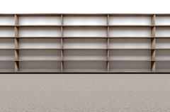 Library Bookshelf Empty Stock Illustration