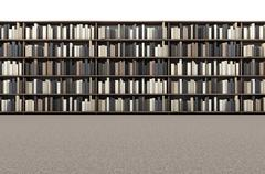 Stock Illustration of Library Bookshelf Aisle