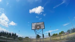 First person basketball shot Stock Footage
