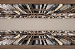 Stock Illustration of Library Bookshelf Aisle