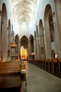 Interior of historical Turku Cathedral Stock Photos