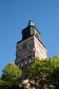 Exterior of historical Turku Cathedral, Finland - stock photo