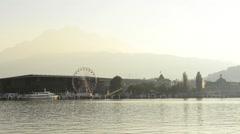Coast of Lake Lucerne. Switzerland Stock Footage