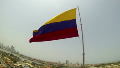 Colombia Flag 2.7K Stock Footage